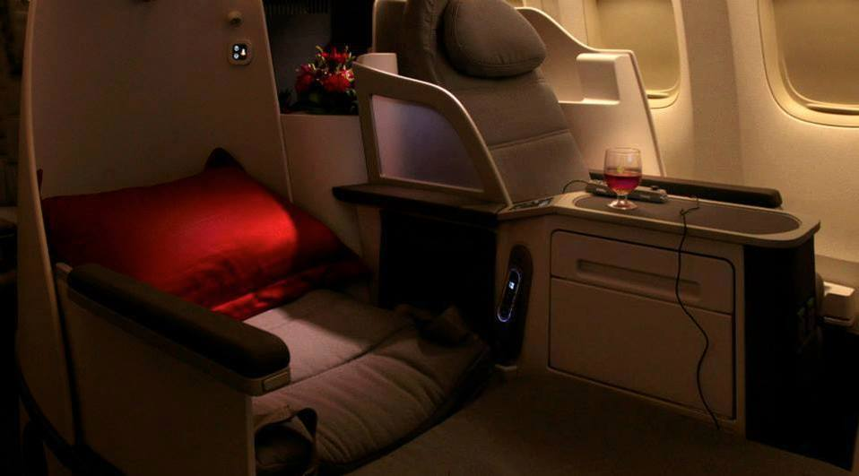 Air China Business Class Photo