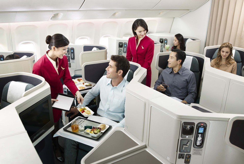 Cathay Pacific Airways Business Class Photo