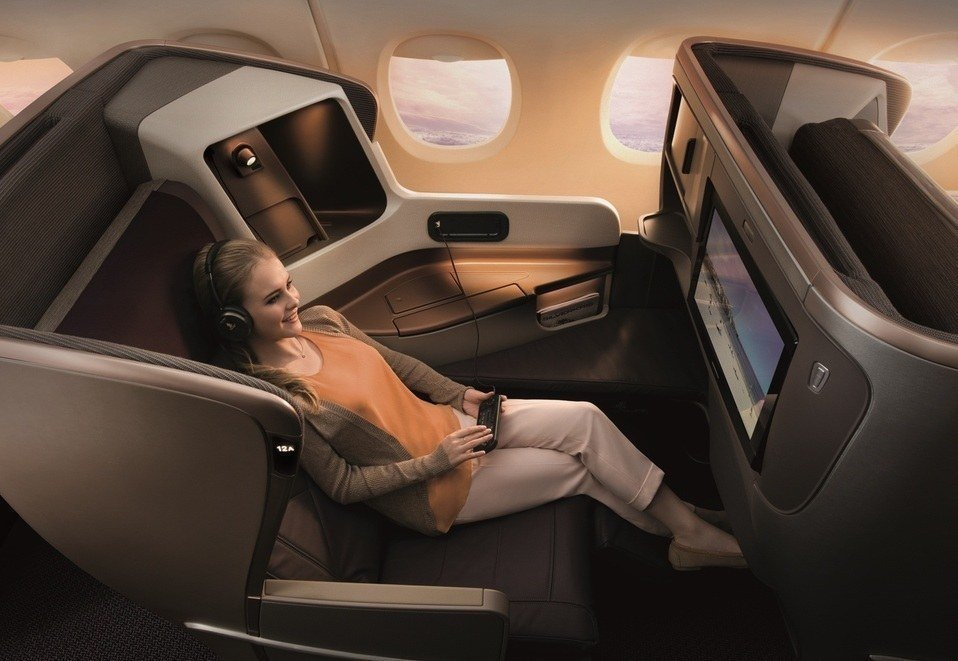 Singapore Airlines Business Class Photo