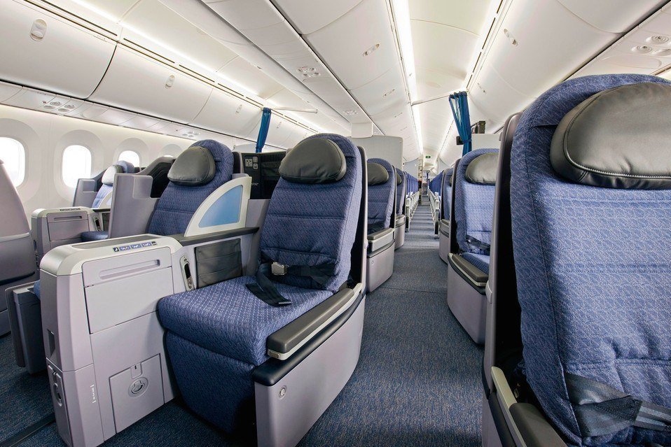 United Airlines Business Class Photo