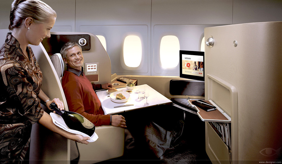 Qantas  First Class Photo