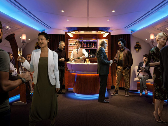 Business Class Bar on Emirates' A380