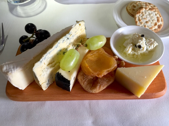 Cheese in Emirates First Class