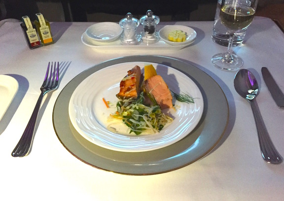 Roast Salmon in Emirates First Class