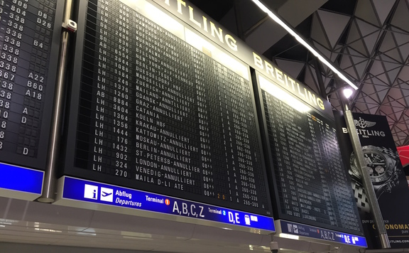 Frankfurt Airport Electro-mechanical Flap Board