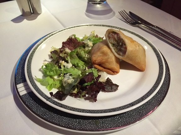 Singapore Airlines Light Meal Spring Roll