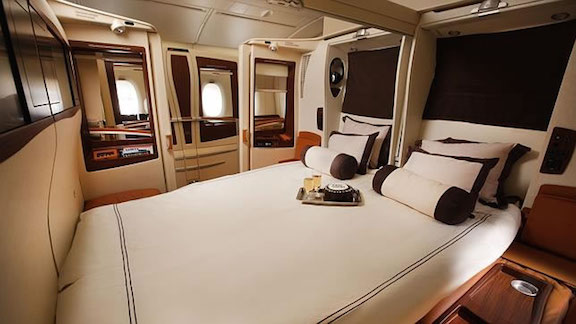 Singapore Airlines First Class Suite Double Bed
