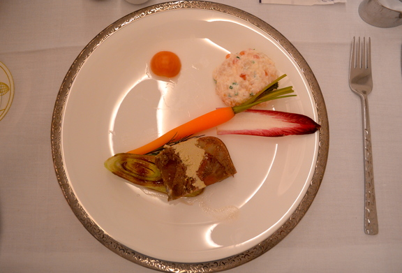 Thai Airways First Class First Course - Terrine of Beef