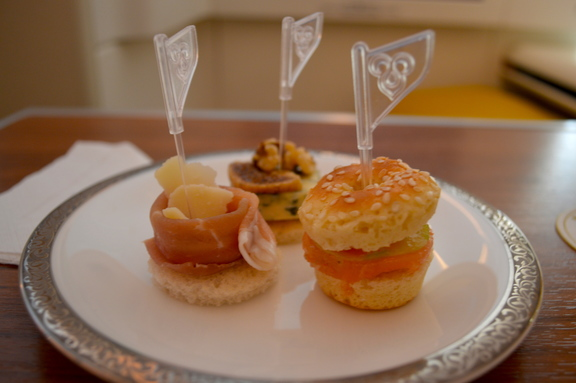 First Class Canapes onboard Thai Airways