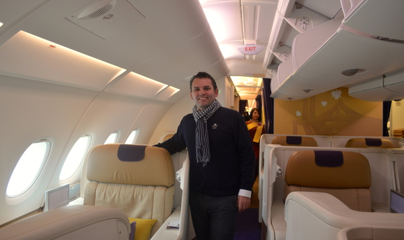 Me on Thai Airways' First Class on the Upper Deck of the A380