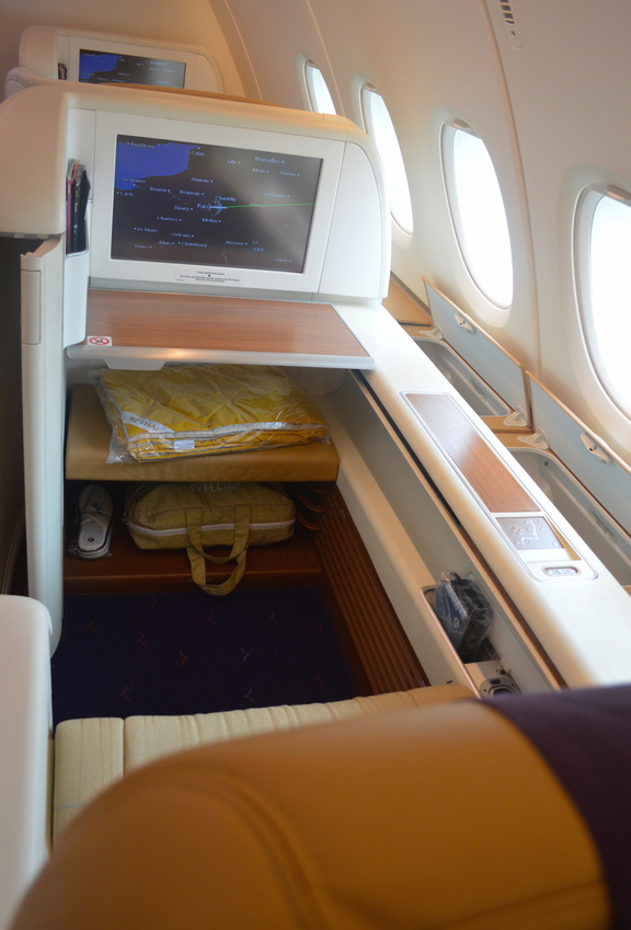 Thai Airways First Class Seat and Leg Room